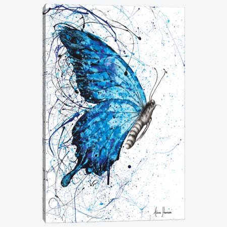 Blue Butterfly Rains Canvas Print #VIN225} by Ashvin Harrison Canvas Wall Art