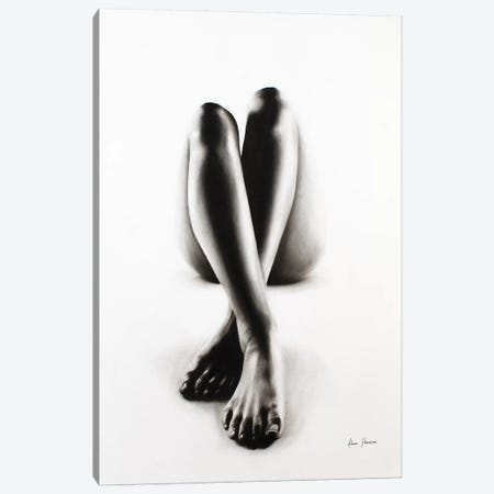 Nude Woman Charcoal Study 43 Canvas Print #VIN241} by Ashvin Harrison Canvas Art Print