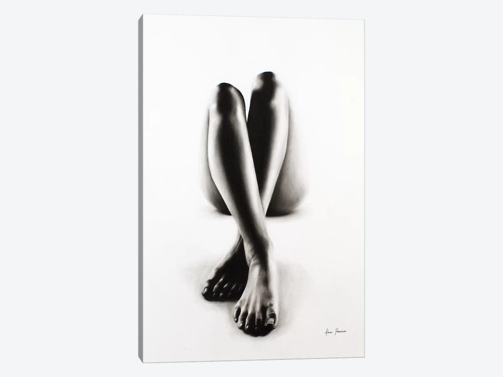 Nude Woman Charcoal Study 43 by Ashvin Harrison 1-piece Canvas Artwork