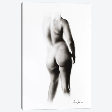 Nude Woman Charcoal Study 45 Canvas Print #VIN242} by Ashvin Harrison Art Print
