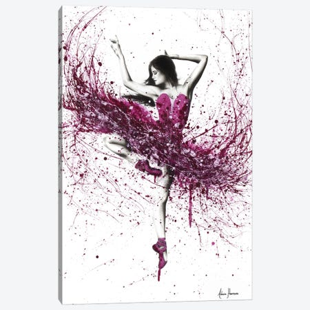 Royal Rubellite Ballerina Canvas Print #VIN250} by Ashvin Harrison Canvas Art