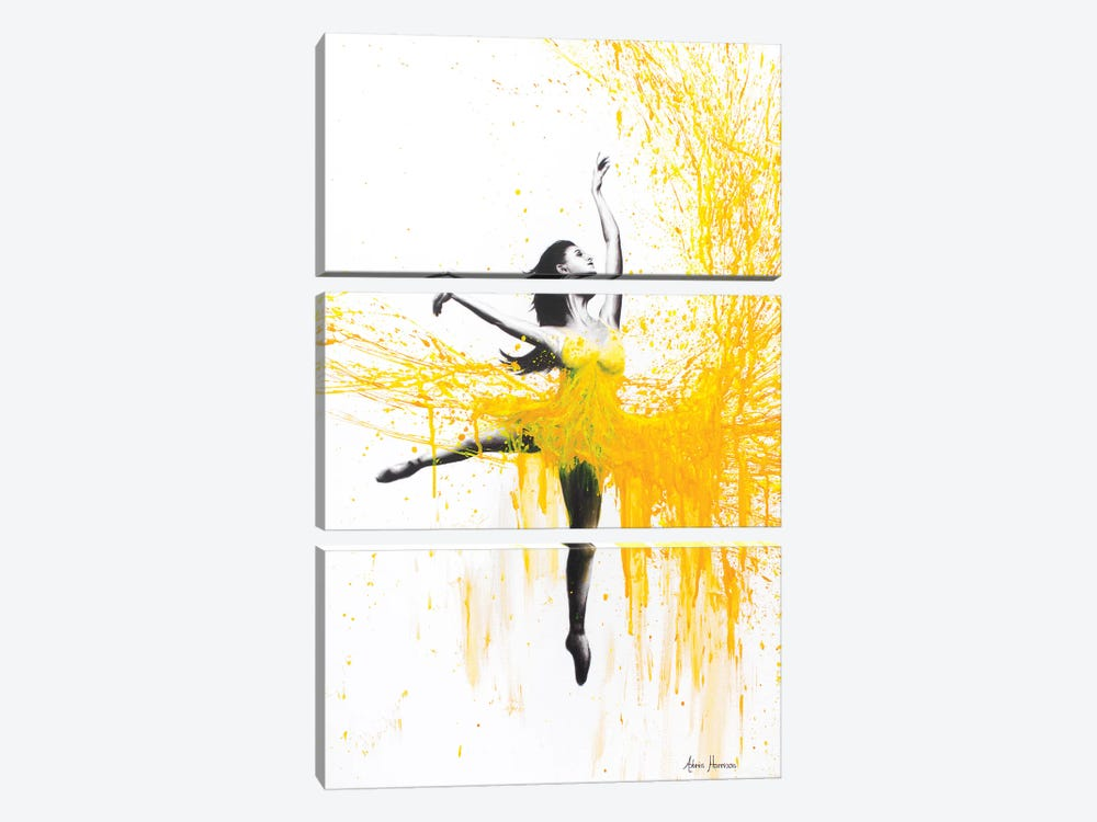 Sunflower Dance by Ashvin Harrison 3-piece Canvas Art Print