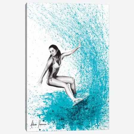 Surfing Waves 3-Piece Canvas #VIN255} by Ashvin Harrison Canvas Print