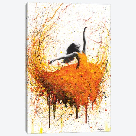 Tangelo Fire Dance Canvas Print #VIN257} by Ashvin Harrison Canvas Print