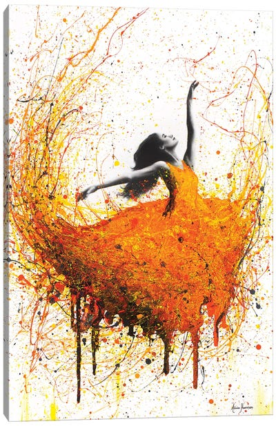 Tangelo Fire Dance Canvas Art Print