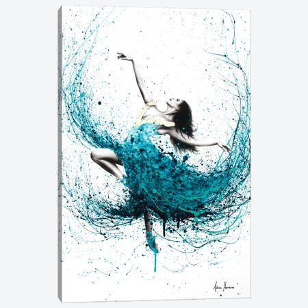 Teal Dancer Canvas Print #VIN259} by Ashvin Harrison Canvas Art