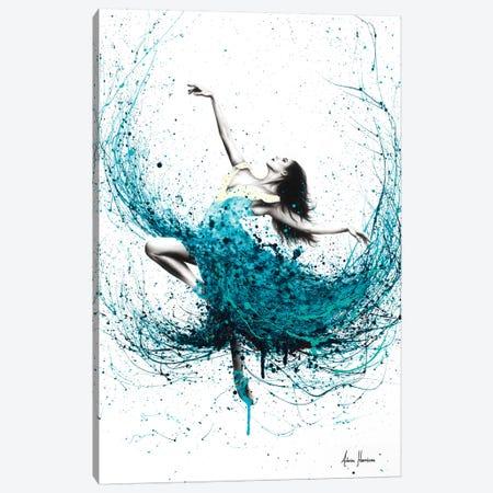 Teal Dancer Canvas Print #VIN259} by Ashvin Harrison Canvas Art