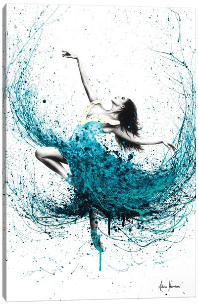 Teal Dancer Canvas Art Print