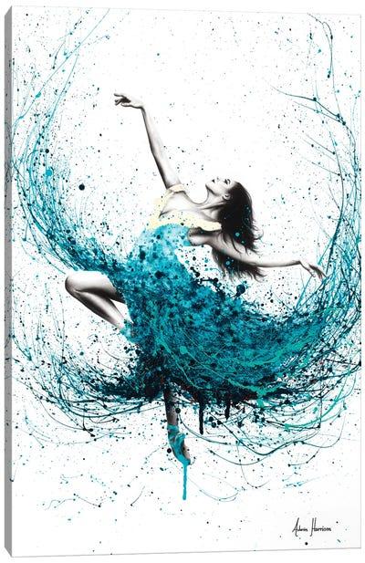 Teal Dancer Canvas Art Print