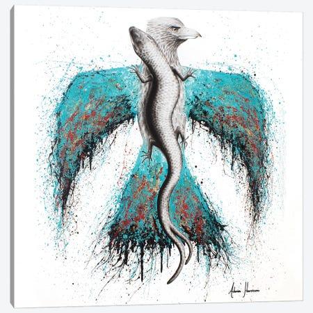 Thunderbird & Lizard Canvas Print #VIN263} by Ashvin Harrison Canvas Print