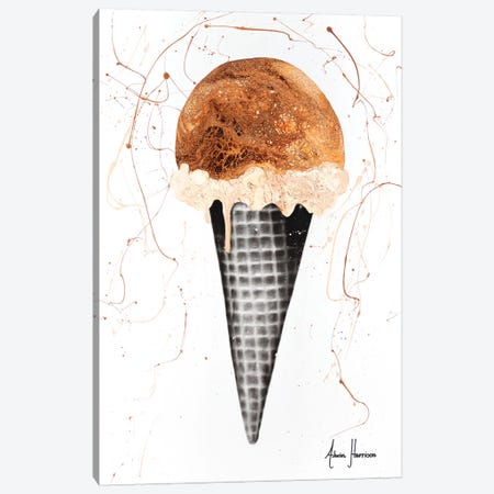 Chocolate Ice Cream Canvas Print #VIN271} by Ashvin Harrison Canvas Artwork