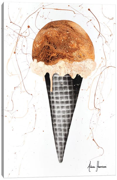 Chocolate Ice Cream Canvas Art Print
