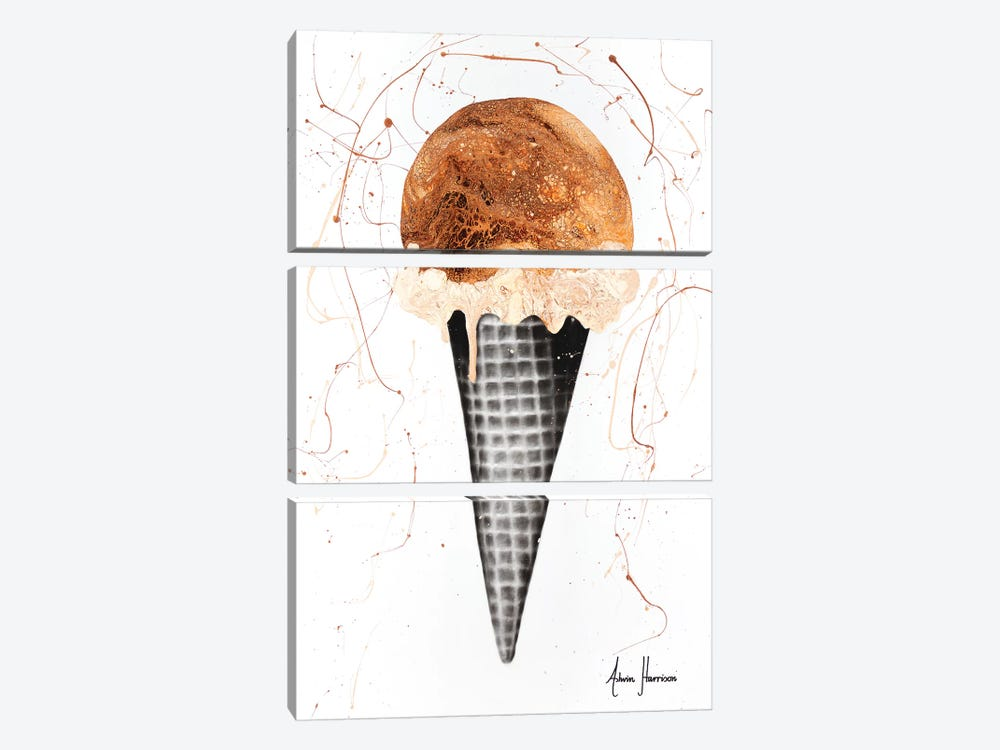 Chocolate Ice Cream by Ashvin Harrison 3-piece Canvas Art Print