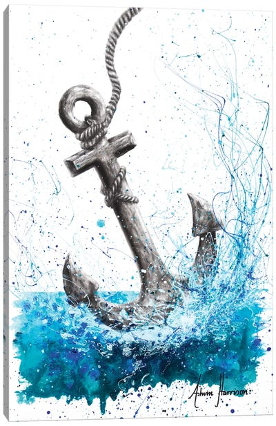 Drift and Anchor Canvas Art Print