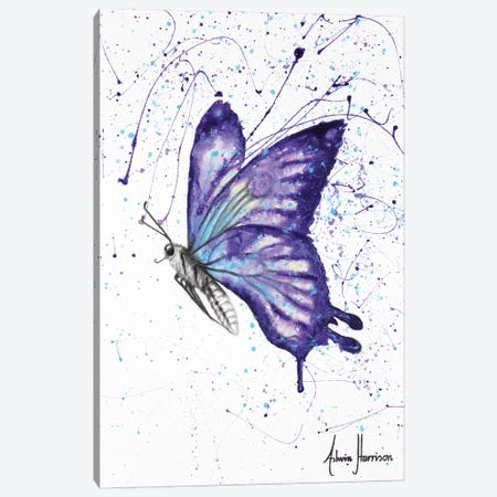 Lavender Butterfly Canvas Print #VIN280} by Ashvin Harrison Canvas Art Print