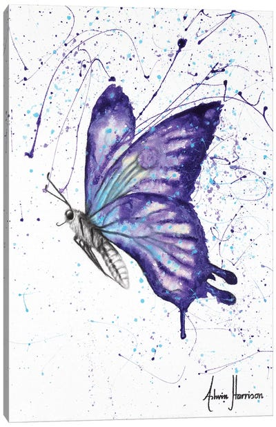 Lavender Butterfly Canvas Art Print