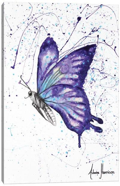 Lavender Butterfly Canvas Art Print