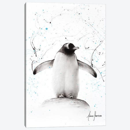 Penguin Parade Canvas Print #VIN285} by Ashvin Harrison Canvas Artwork