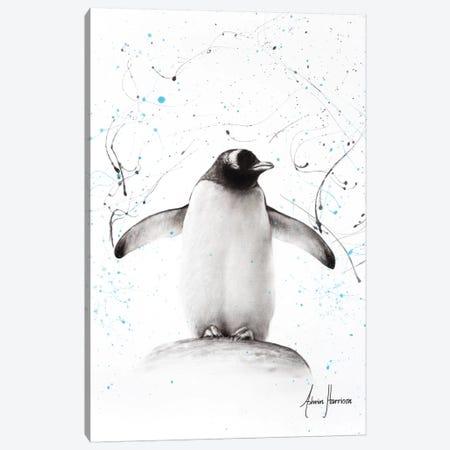 Penguin Parade Canvas Print #VIN285} by Ashvin Harrison Canvas Artwork