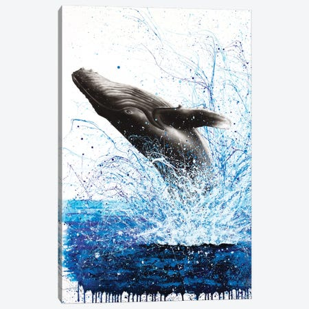 Whale Waves Canvas Print #VIN294} by Ashvin Harrison Canvas Print