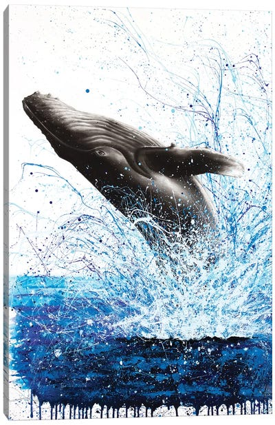 Whale Waves Canvas Art Print