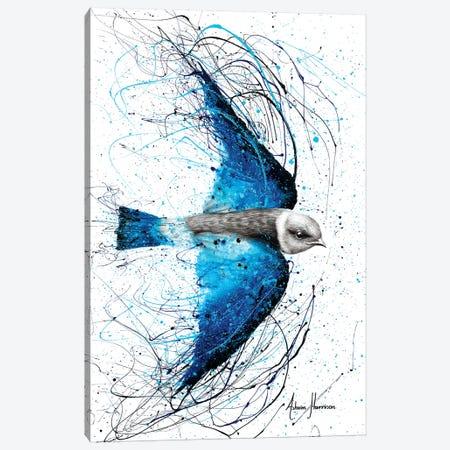Blue Bird Listener Canvas Print #VIN299} by Ashvin Harrison Canvas Artwork