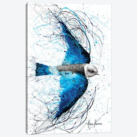 Blue Bird Listener Canvas Print #VIN299} by Ashvin Harrison Canvas Artwork