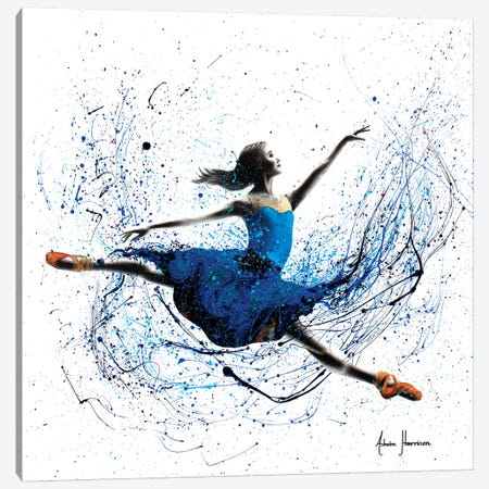 Blue Season Ballerina Canvas Print #VIN300} by Ashvin Harrison Canvas Artwork