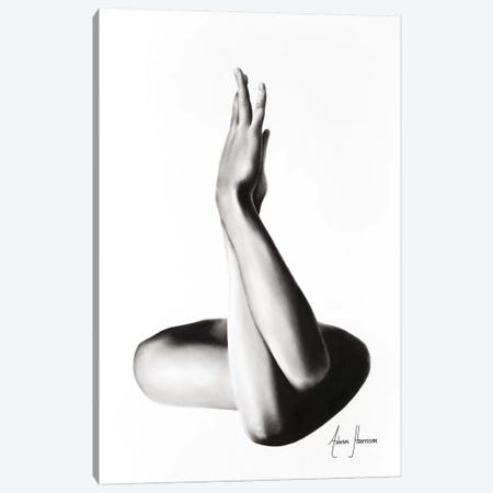 Nude Woman Charcoal Study 69 Canvas Print #VIN309} by Ashvin Harrison Canvas Wall Art