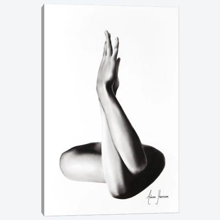 Nude Woman Charcoal Study 69 Canvas Print #VIN309} by Ashvin Harrison Canvas Wall Art