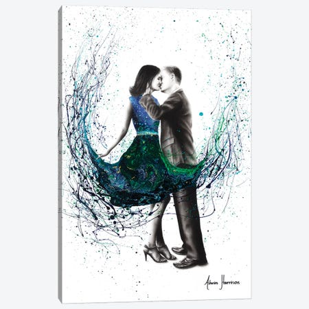 The First Kiss Canvas Print #VIN315} by Ashvin Harrison Canvas Wall Art