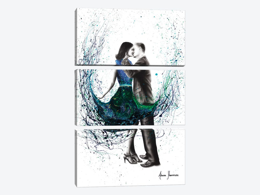 The First Kiss by Ashvin Harrison 3-piece Canvas Wall Art
