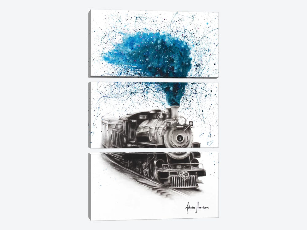 Time Voyager by Ashvin Harrison 3-piece Canvas Wall Art