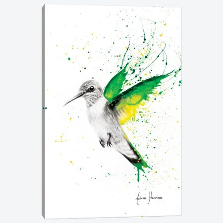 Bird of Emeralds Canvas Print #VIN320} by Ashvin Harrison Canvas Artwork