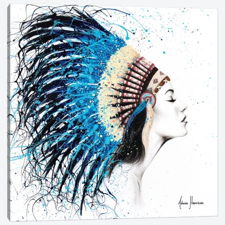 Her Feathers Canvas Print #VIN325} by Ashvin Harrison Canvas Art Print