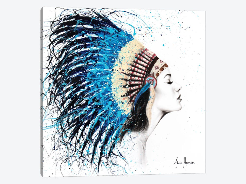 Her Feathers by Ashvin Harrison 1-piece Canvas Art Print