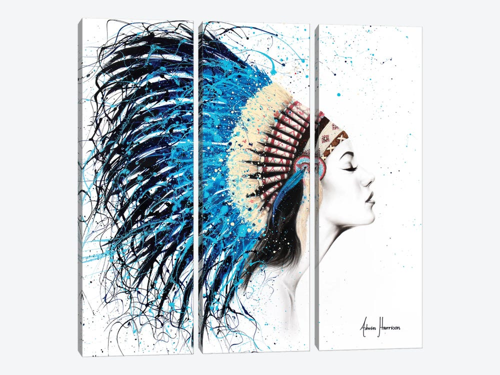 Her Feathers by Ashvin Harrison 3-piece Art Print
