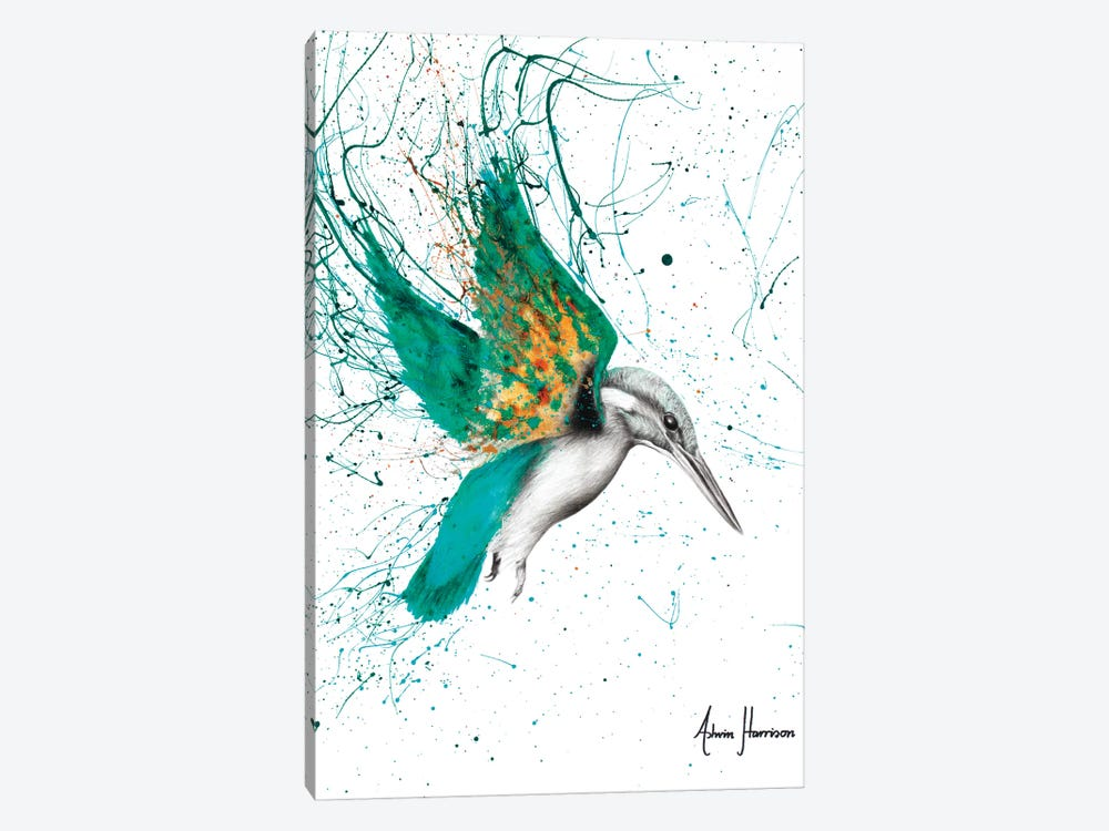 Kingfisher Skies by Ashvin Harrison 1-piece Canvas Artwork