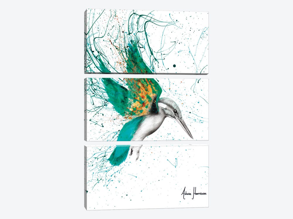 Kingfisher Skies by Ashvin Harrison 3-piece Canvas Artwork