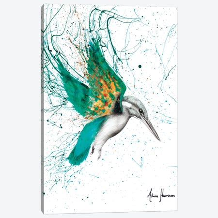 Kingfisher Skies Canvas Print #VIN326} by Ashvin Harrison Art Print