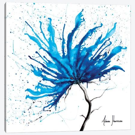 Blue Sea Flower Canvas Print #VIN338} by Ashvin Harrison Art Print