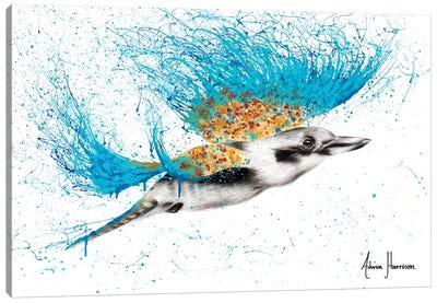 Clever Kookaburra Canvas Art Print