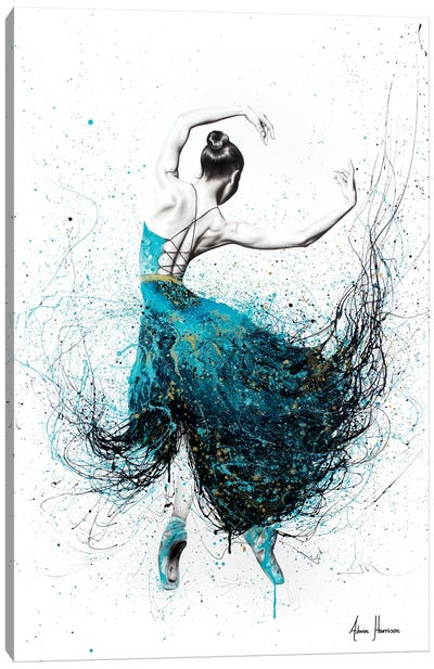 Gold River Dance Canvas Art Print