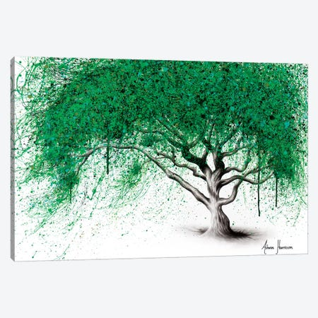Green Breeze Tree Canvas Print #VIN347} by Ashvin Harrison Art Print