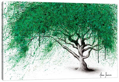 Green Breeze Tree Canvas Art Print