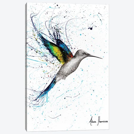 Happy Hummingbird Canvas Print #VIN349} by Ashvin Harrison Canvas Art