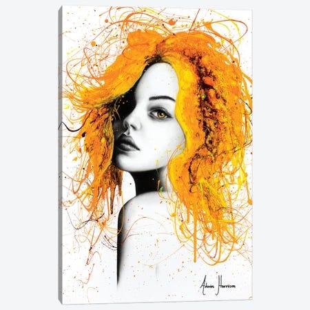Sunflower Girl Canvas Print #VIN369} by Ashvin Harrison Canvas Art