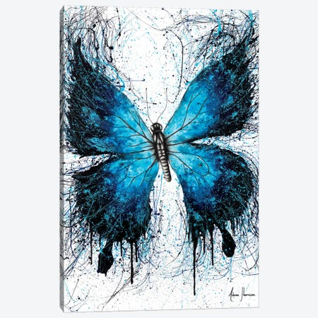 The Butterfly Blue Wings Canvas Print #VIN372} by Ashvin Harrison Canvas Print
