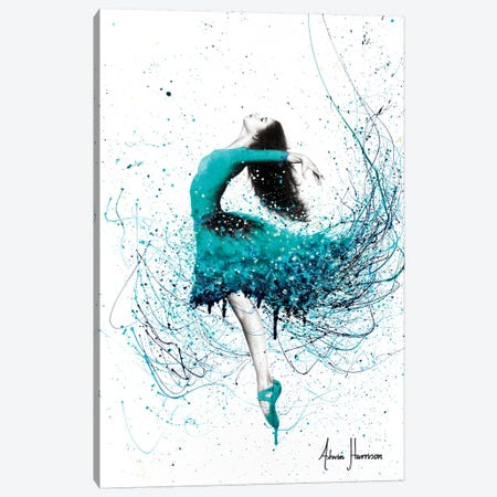 Turquoise Ocean Dancer Canvas Print #VIN375} by Ashvin Harrison Canvas Artwork