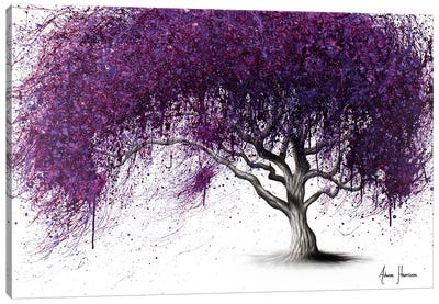 Violet Shadows Canvas Art Print